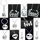 Boy Girl Mama Family Necklaces Parents Children Charm Jewelry Stainless Steel