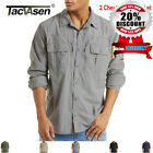 Men's Tactical Shirt Fast Drying Long Sleeve Skin Protection Tops Army Shirt Man