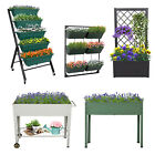 Raised Garden Bed Patio Grow Box Kit Elevated Vertical Planter Vegetables Herbs