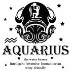 Vinyl Adhesive Home Wall Decal   Aquarius Astrological Sign Decoration Stickers