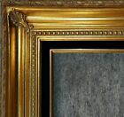 """4.25""""  Gold Leaf Wood Antique Picture Frame wide photo art gallery B4Gb"""
