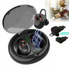 Wireless Earbuds Bluetooth 5.0 Headphones Sweatproof with Mic & Charging Box US