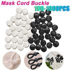 100-1000X Face Mask Buckle Cord Locks Buttons Adjustable Beads Anti-slip Stopper