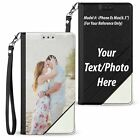 For iPhone 12 11 XS Max XR 7 8 Personalize Custom Photo WALLET Flip Case