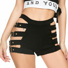 Womens High Waist Hollow Out Side Shorts Gothic Short Hot Pants Party Clubwear