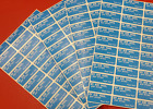 Royal Mail Airmail Stickers (Par Avion ) Sheets of 36 ....Buy 25/50/100/200/400