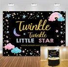 Twinkle Twinkle Litter Star Backdrop Baby Shower Party Glitter Starry Backdrop