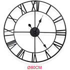 """23.6""""/31.5"""" LARGE Outdoor Garden Roman Wall Clock Vintage Numerals Round Face US"""