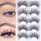 Fluffy Natural Eye Lash Extension False Eyelashes 3D Faux Mink Hair Crisscross