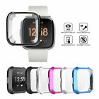 Silicone Protective Shell Case Screen Protector Frame Cover fr Fitbit Versa Lite