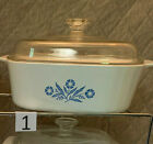 CHOICE Vintage Corningware Blue Cornflower Bakeware Estate Lot Beautiful MCM