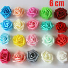 50pcs Artificial Flowers Foam 6cm Roses Wedding Bride Bouquet Home Party Decor