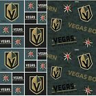 NHL Hockey Las Vegas Golden Knights Vegas Born Cotton Fabric BY The YARD $9.0 USD on eBay