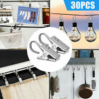 Stainless Steel Curtain Clips Photo Metal Hanging Hook Rings Home Drapery Clamp
