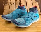 Nike Free RN Motion Flyknit Women's Running Shoes Blue 880846-400 US Size 8 9 11