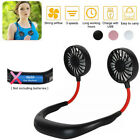 Kyпить Portable USB Rechargeable Neckband Dual Cooling Mini Fan Lazy Neck Hanging Style на еВаy.соm