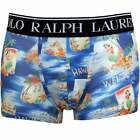 Polo Ralph Lauren Aloha Print Men's Boxer Trunk, Blue/Multi