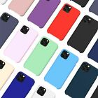 Liquid Silicone Shockproof Case For Apple iPhone Soft Matte Back Phone Cover
