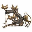 Cats Figurines Handmade Metal Kittens Sculpture Iron Home Decoration Accessories