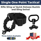 Best Single Point Tactical Rifle Gun Sling w/Quick Release Bungee US SELLER
