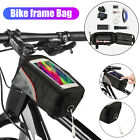 Waterproof Bicycle Frame Tube Front Top Bag MTB Bike Cycling Touch Phone Holder