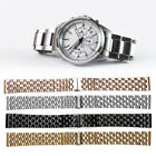 4 Colors 18mm Steel Watch Band Strap Bracelet Watch Repair Replacement Accessory