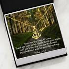 Baptism Necklace Religious Gift, Psalm 25:4-5, Anchor Necklace Stainless Steel 1