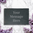 Personalised Slate Memorial Plaque Engraved Stone Remembrance Pet Sentiment <br/> UK Sourced Natural Slate, Laser Engraved Product