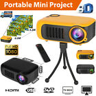 Mini Portable LED Full HD 1080p Projector Home Theater Cinema w/HDMI/AV/USB Port