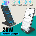 Wireless Charger 20W Qi Fast Charging Dock Power Stand for iPhone 12 Samsung S10