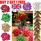40x Mini Christmas Foam Frosted Fruit Artificial Berry Flower Home Xmas Decor Uk