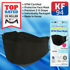 [10 PCS] [Individual Packed] KF94 BLACK Face Mask Safety Protective Adult Unisex