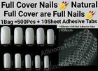 100/500Pcs Full Cover Nails Manicure Long Square False Finger Tips Fake Nails
