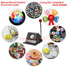 Manual Round Graphic Punch Die Cutter for Paper/ PVC/ Heat Transfer film 35-86mm