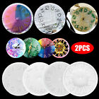 2PCS Silicone Mold Resin Crafts Casting Mould Epoxy Handmade Crystal Glue Clock