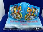 1 PACK/ 2PACK/3PACK KIDS FACE MASK WASHABLE & REUSABLE Girls/Boys 2 -14 year old