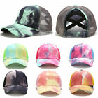 2020 Glitter Ponytail Baseball Cap Women Snapback Dad Hat Mesh Trucker Caps Mess