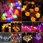 2M 20LED Halloween Spiders Pumpkin Ghost Bat String Lights Garland Home Decor