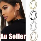 1pair 40-100mm Large Dangle Circle Thin Hoop Earrings Ear Women Big Large Hoops