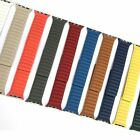 Leather link magnet loop buckle strap for Apple Watch band series 6/5/4/3/2/1/SE