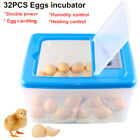 32 Eggs Automatic Poultry Incubator Hatcher Water Incubation W/ Egg Candler