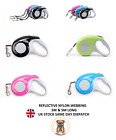 Reflective Dog Leash Auto Retractable Tape Nylon Strong Dog Leads Nylon Lead