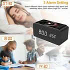 Digital USB Electric Alarm Clock Phone Wireless Charging Thermometer Desktop