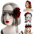 Props Hair Wreath Halloween Headbands Wedding Garland Red Rose Crown
