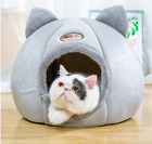 Cat Bed Cave Small Wool Cozy Pet Igloo Bed Winter House Nest Kennel UK2020