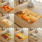 Pumpkin Placemat Fall Harvest Thanksgiving Orange Dining Table Pads Home Decor