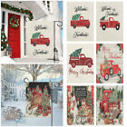 Supplies Merry Xmas Welcome Farmhouse Red Truck With Tree Christmas Garden Flag