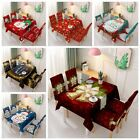 Xmas Tablecloth Chair Cover Elastic One-piece Chair Cover Waterproof Home Decor
