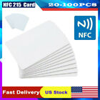 20-100X NFC Card NTAG215 Waterpoof 504Bytes Chip Sticker PVC Blank Tags US Stock