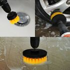 3pcs/set Drill Brush Power Scrubber Drill Attachments-carpet Tile Grout Cleaning